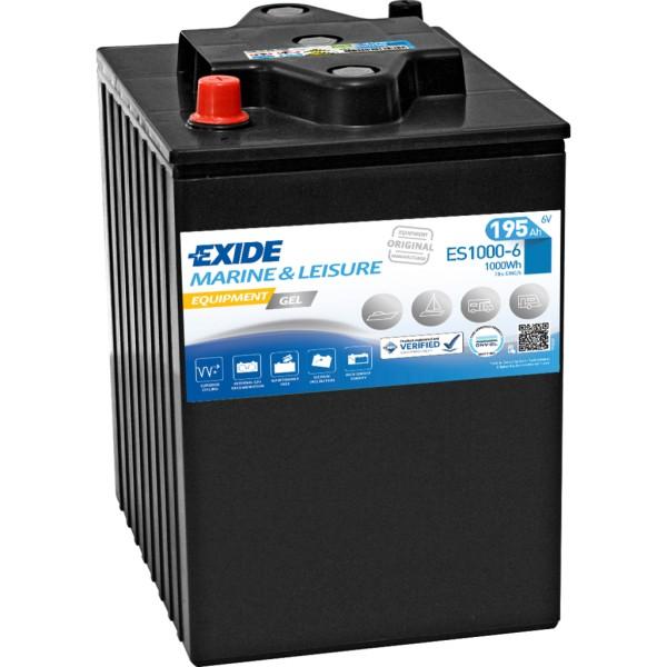 Batería Exide Marina Gel ES1000-6. 6V - 195Ah/900A (EN) (244x190x275mm)