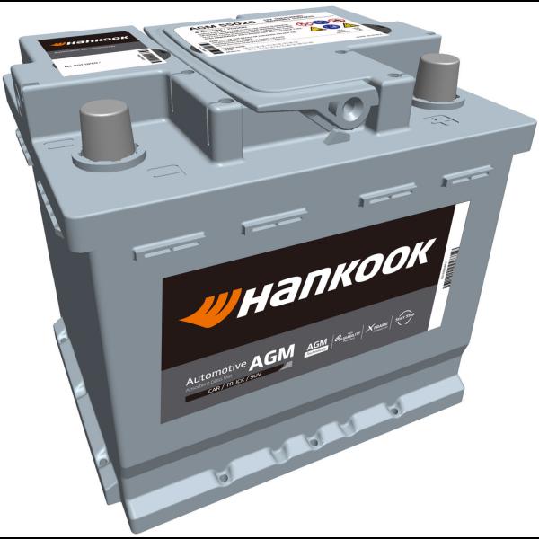 Batería Hankook AGM55020. 12V - 50Ah/540A (EN) Caja L1 (208x174x190mm)