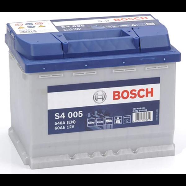 Batería Bosch S4 S4005. 12V - 60Ah/540A (EN) Caja L2 (242x175x190mm)
