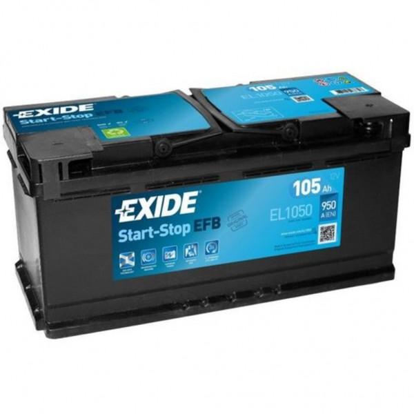 Batería Exide Efb EL1050. 12V - 105Ah/950A (EN) Caja L6 (392x175x190mm)