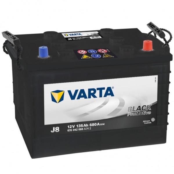 Batería Varta Promotive Black J8. 12V - 135Ah/680A (EN) (360x253x240mm)