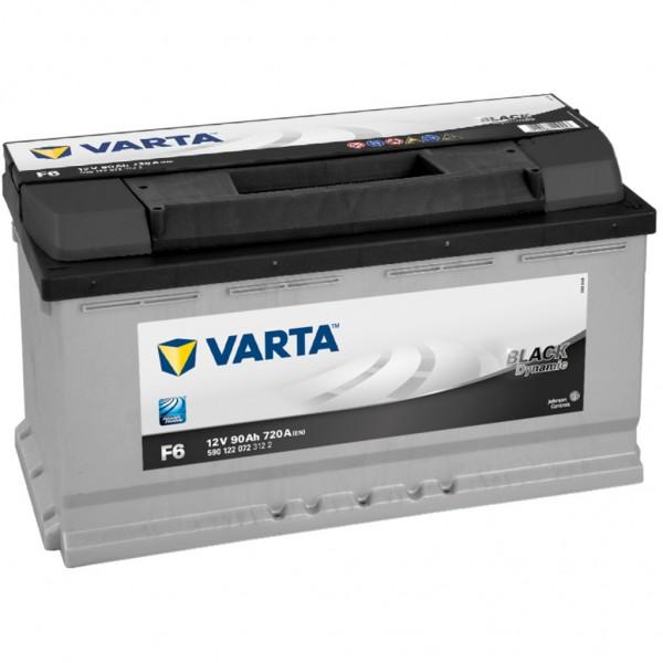 Batería Varta Black Dynamic F6. 12V - 90Ah/720A (EN) Caja L5 (353x175x190mm)