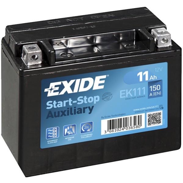 Batería Exide Baterias Auxiliares EK111. 12V - 11Ah/150A (EN) (150x90x130mm)