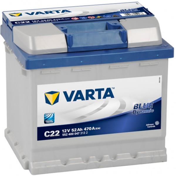 Batería Varta Blue Dynamic C22. 12V - 52Ah/470A (EN) Caja L1 (207x175x190mm)