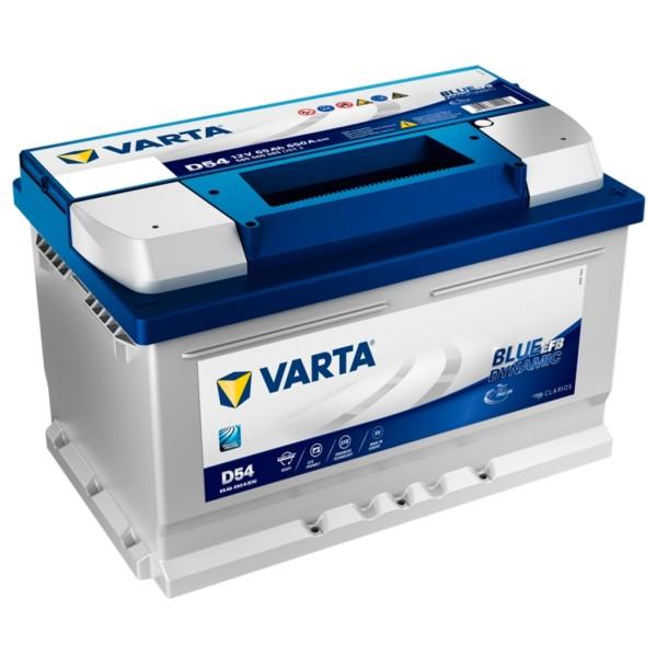 Batería Varta Blue Dynamic Efb D54. 12V - 65Ah/650A (EN) Caja LB3 (278x175x175mm)