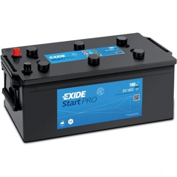 Batería Exide Start Pro EG1803. 12V - 180Ah/1000A (EN) Caja B (513x223x223mm)