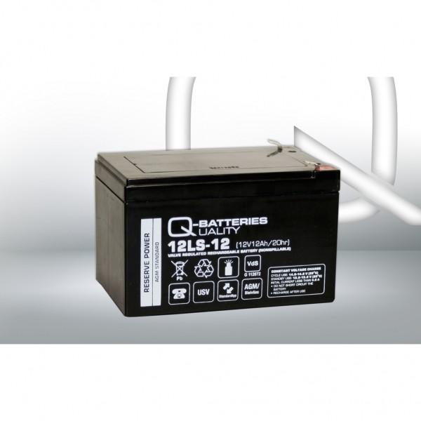 Batería Qbatteries Agm Standard 12LS-12. Tecnología AGM. 12V - 12Ah (151x98x95mm)