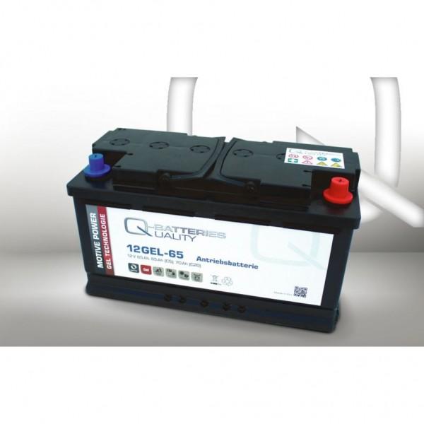 Batería Qbatteries Gel Traction Battery 12GEL-65. Tecnología GEL. 12V