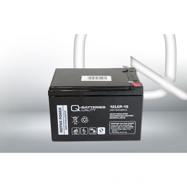 Batería Qbatteries Agm Deep Cycle Battery 12LCP-15. Tecnología AGM. 12V - 15Ah (151x98x99mm)