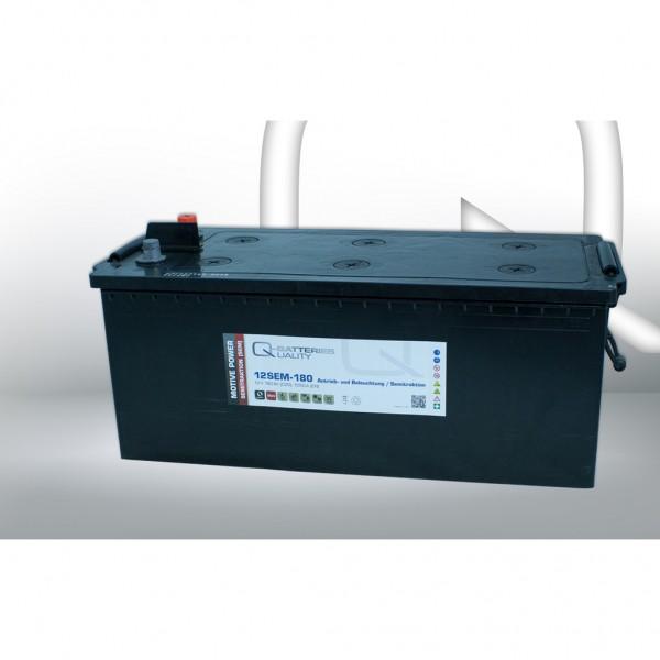 Batería Qbatteries Semitraction Battery 12SEM-180. 12V - 180Ah Caja B (513x224x225mm)