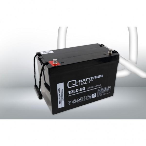 Batería Qbatteries Agm Deep Cycle Battery 12LC-92. Tecnología AGM. 12V - 93Ah (307x169x211mm)