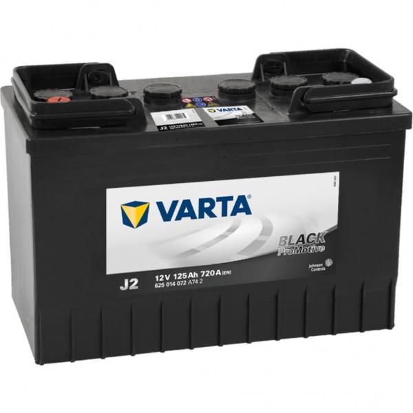 Batería Varta Promotive Black J2. 12V - 125Ah/720A (EN) Caja WOR (349x175x290mm)