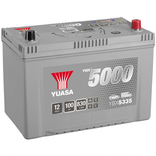 Batería Yuasa Silver High Performance Smf YBX5335. 12V - 95Ah/830A (EN) Caja M27 (303x174x222mm)