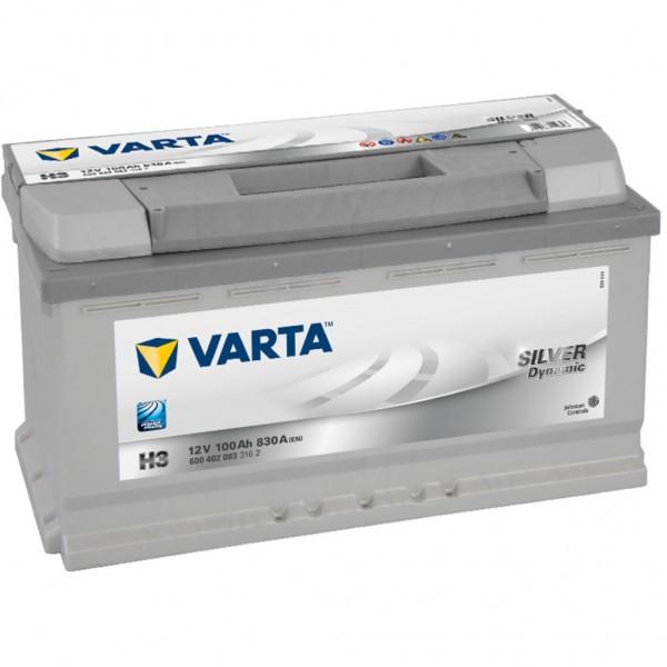 Batería Varta Silver Dynamic H3. 12V - 100Ah/830A (EN) Caja L5 (353x175x190mm)