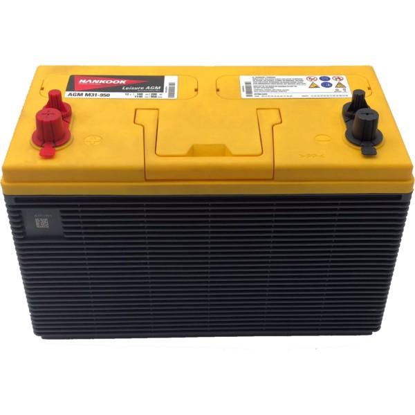 Batería Hankook AGMM31-950. 12V - 100Ah/950A (EN) (332x172x216mm)