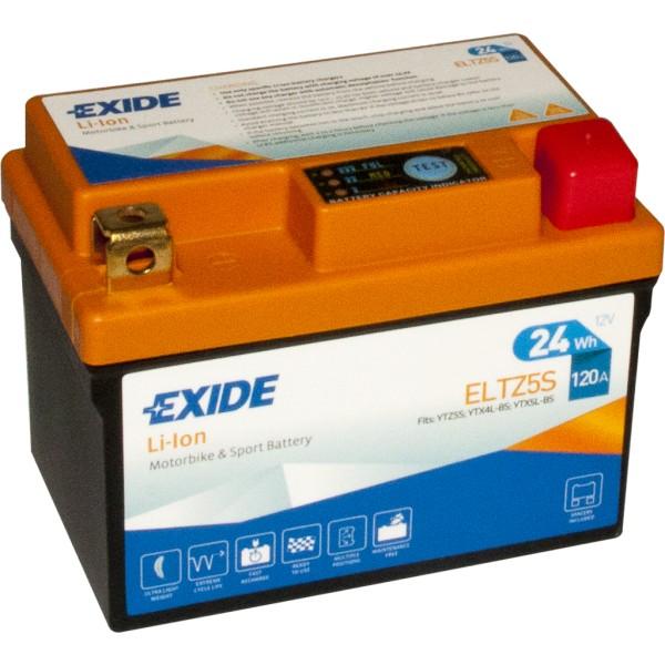 Batería Exide-Litio ELTZ5S. 12V - 2Ah/120A (EN) (113x70x85mm)