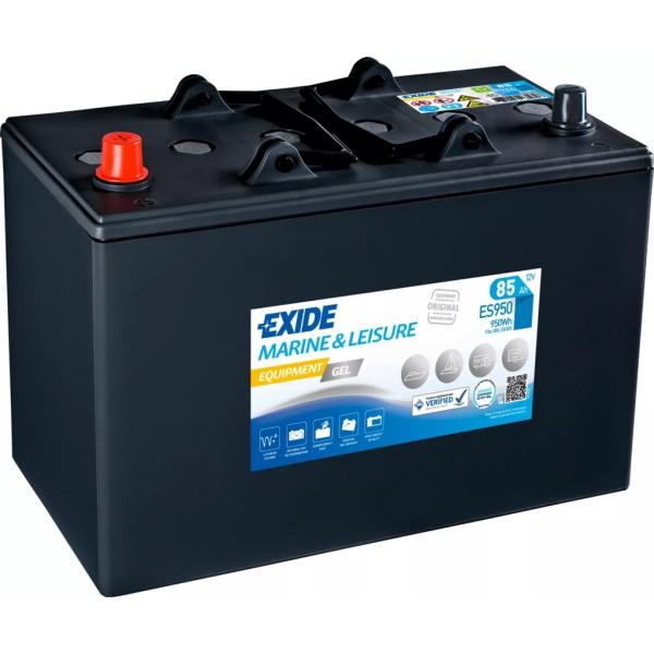 Batería Exide Marina Gel ES950. 12V - 85Ah/450A (EN) (330x175x235mm)