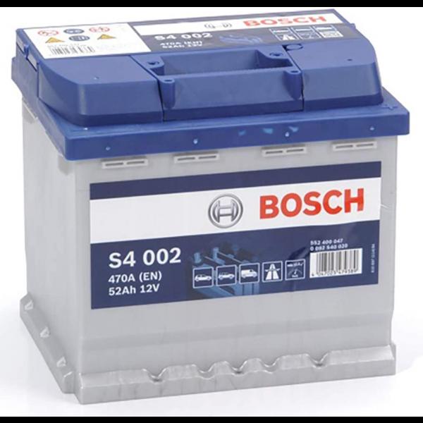 Batería Bosch S4 S4002. 12V - 52Ah/470A (EN) Caja L1 (207x175x190mm)