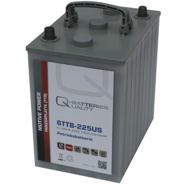 Batería Qbatteries Tubular Plate Battery 6TTB-225US. 6V - 225Ah (260x180x275mm)