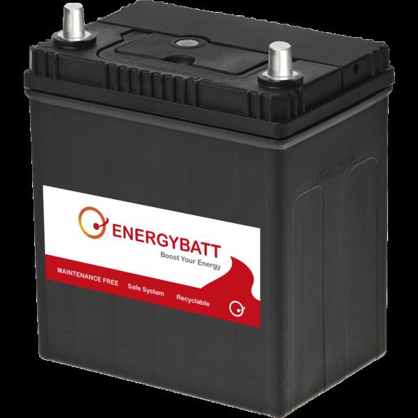 Batería Energybatt Caja Japonesa / Asiática EBJP35300D. 12V - 35Ah/300A (EN) Caja B19 (187x127x200mm