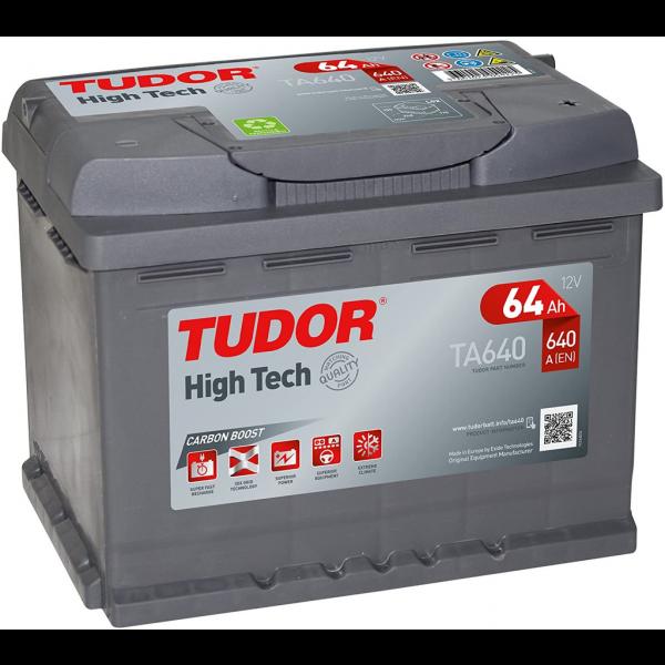 Batería Tudor TA640. 12V - 64Ah/640A (EN) Caja L2 (242x175x190mm)
