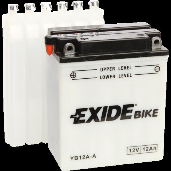 Batería Exide Moto 12V Conventional EB12A-A. 12V - 12Ah/165A (EN) (135x80x160mm)