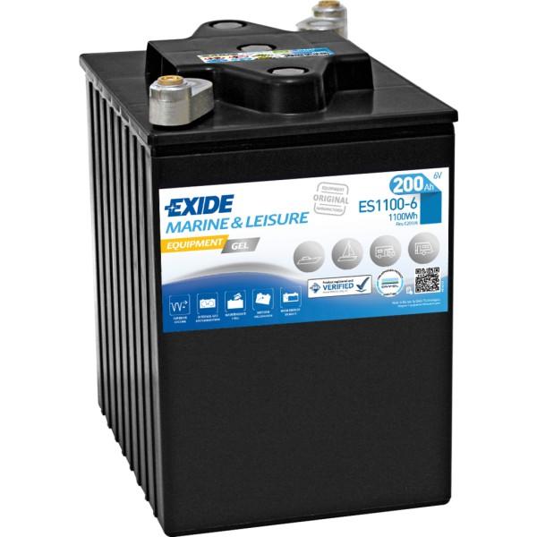 Batería Exide Marina Gel ES1100-6. 6V - 200Ah/950A (EN) (244x190x275mm)