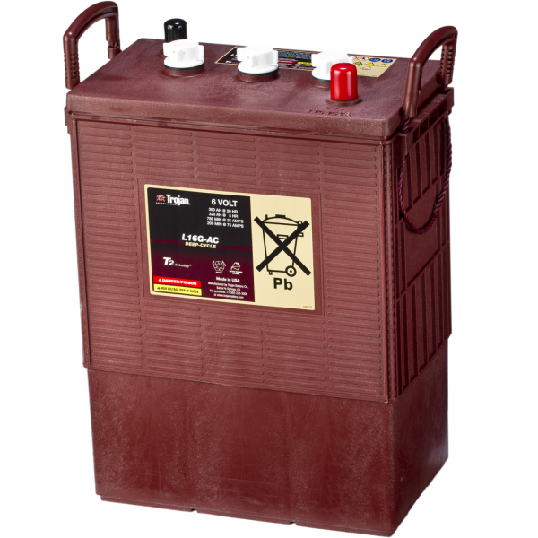 Batería Trojan 6 Volt Deep-Cycle L-16G-AC. 6V - 390Ah (311x178x417mm)