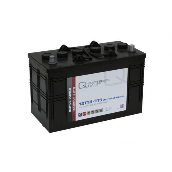 Batería Qbatteries Tubular Plate Battery 12TTB-115. 12V - 115Ah Caja LOT7 (345x173x233mm)