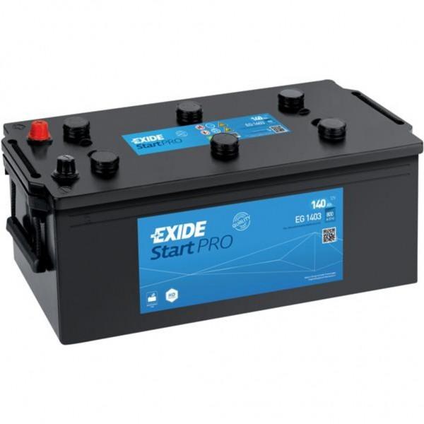 Batería Exide Start Pro EG1403. 12V - 140Ah/800A (EN) Caja A (513x189x223mm)
