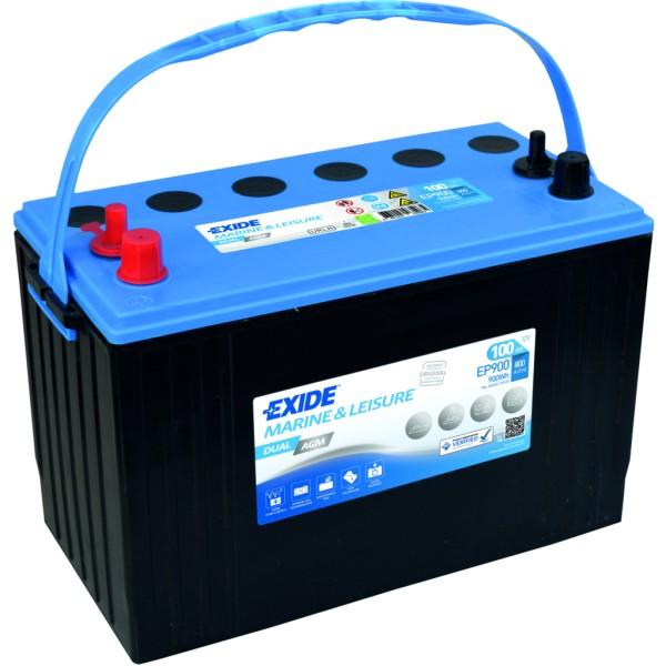 Batería Exide Marina Dual EP900. 12V - 100Ah/720A (EN) Caja M31 (330x173x240mm)
