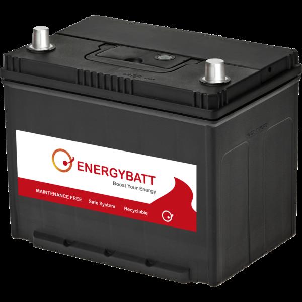 Batería Energybatt Caja Japonesa / Asiática EBJP80540D. 12V - 80Ah/540A (EN) Caja D26 (271x175x225mm