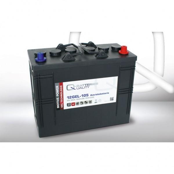 Batería Qbatteries Gel Traction Battery 12GEL-105. Tecnología GEL. 12V - 125Ah (345x170x285mm)