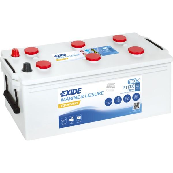 Batería Exide Marina Dual ET1300. 12V - 180Ah/900A (EN) Caja B (513x223x223mm)