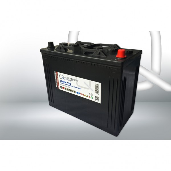 Batería Qbatteries Semitraction Battery 12SEM-135. 12V - 135Ah Caja WOR (349x175x290mm)