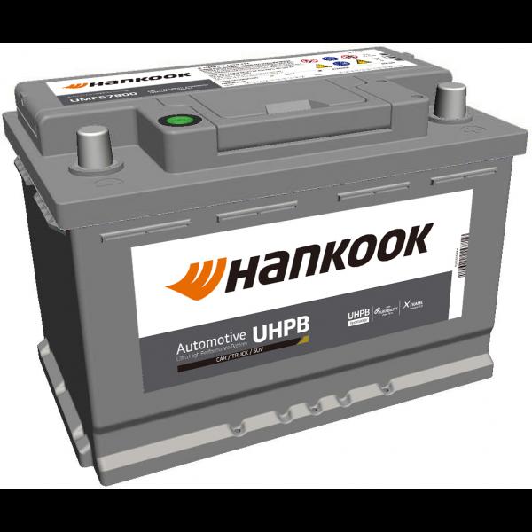Batería Hankook UMF57800. 12V - 78Ah/780A (EN) Caja L3 (277x174x190mm)