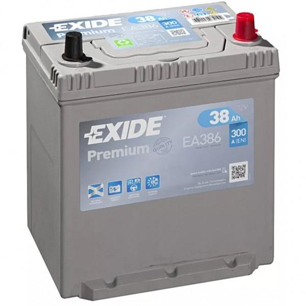 Batería Exide Premium EA386. 12V - 38Ah/300A (EN) Caja B19 (187x127x220mm)