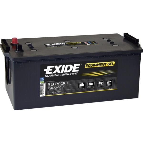Batería Exide Marina Gel ES2400. 12V - 210Ah/1030A (EN) (518x279x240mm)