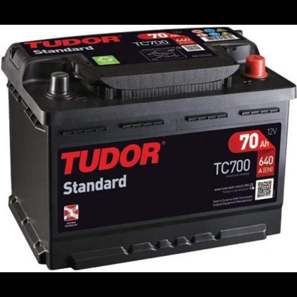 Batería Tudor TC700. 12V - 70Ah/640A (EN) Caja L3 (278x175x190mm)