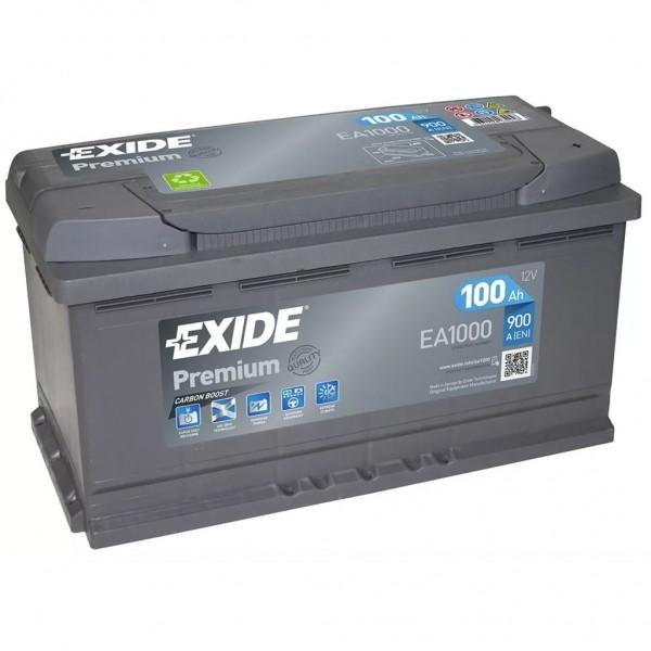 Batería Exide Premium EA1000. 12V - 100Ah/900A (EN) Caja L5 (353x175x190mm)