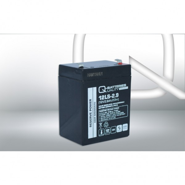 Batería Qbatteries Agm Standard 12LS-2.9. Tecnología AGM. 12V - 2,9Ah (79x56x99mm)