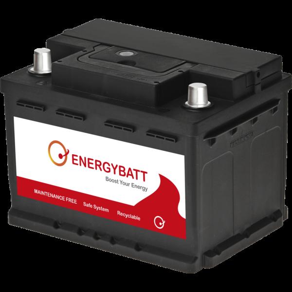 Batería Energybatt EBLB260480D. 12V - 60Ah/480A (EN) Caja LB2 (242x174x175mm)