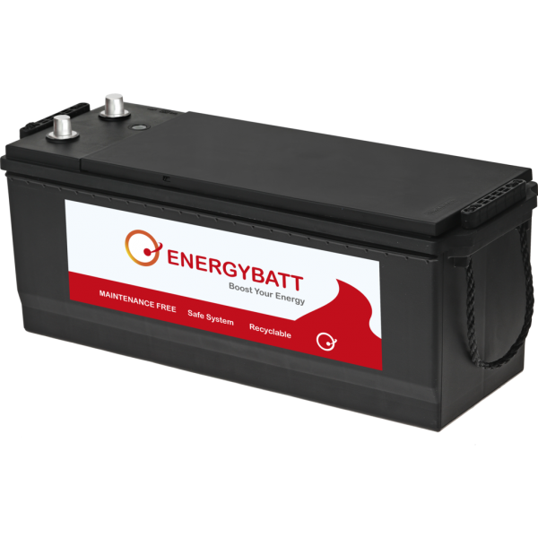 Batería Energybatt Caja Industrial EBA140900D. 12V - 140Ah/900A (EN) Caja F51 (506x182x210mm)