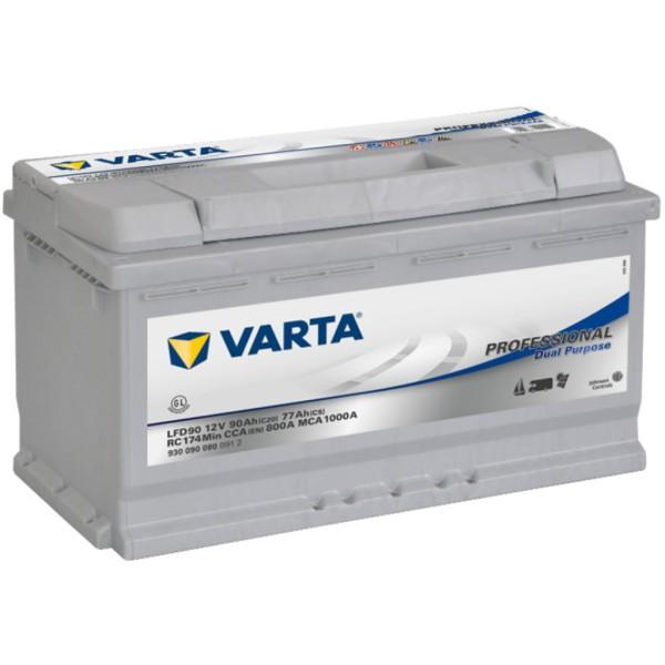 Batería Varta Dual Purpose LFD90. 12V - 83Ah Caja L5 (353x175x190mm)