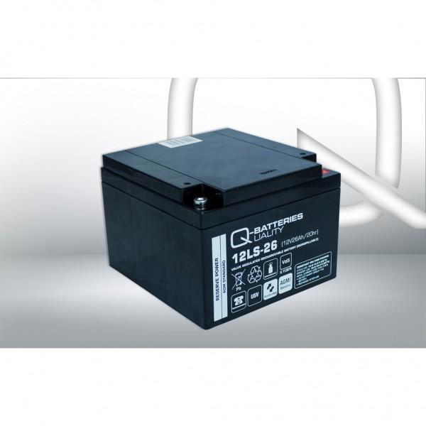 Batería Qbatteries Agm Standard 12LS-26. Tecnología AGM. 12V - 26Ah (165x176x125mm)