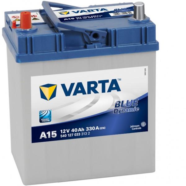 Batería Varta Blue Dynamic A15. 12V - 40Ah/330A (EN) Caja B19 (187x127x227mm)