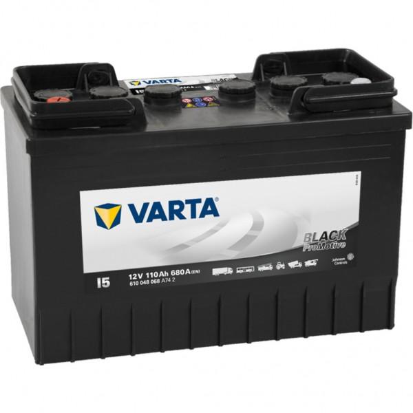 Batería Varta Promotive Black I5. 12V - 110Ah/680A (EN) Caja LOT7 (347x173x234mm)