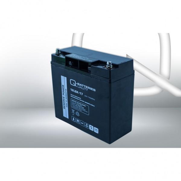 Batería Qbatteries Agm Long Life 12LSX-17. Tecnología AGM. 12V - 17Ah (181x77x167mm)