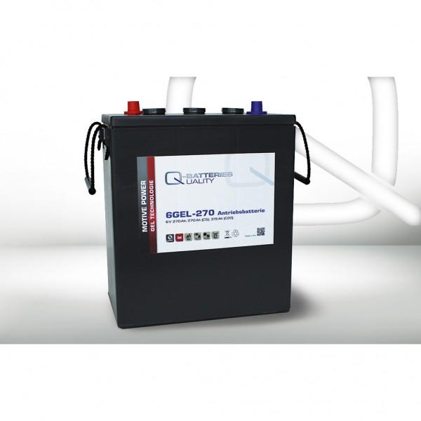 Batería Qbatteries Gel Traction Battery 6GEL-270. Tecnología GEL. 6V (311x181x360mm)