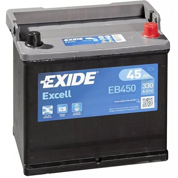 Batería Exide Excell EB450. 12V - 45Ah/330A (EN) Caja E2 (220x135x225mm)